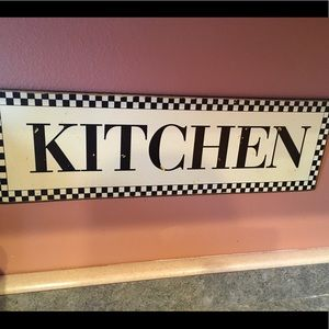 Other - Kitchen metal sign